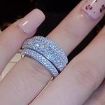 choucong Wieck Full Pave AAA Cubic Zirconia 925 <b>Sterling</b> <b>Silver</b> Simulated stones Women Wedding Engagement Band <b>Ring</b> Size5-11