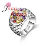 PATICO New Fashion Colorful Crystal <b>Rings</b> Jewelry 925 <b>Sterling</b> <b>Silver</b> For Women Birthday Finger <b>Ring</b> Party Bijoux Accessories