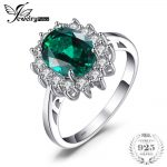JewelryPalace Green Emerald 925 <b>Sterling</b> <b>Silver</b> Fashion Princess Diana Engagement Wedding <b>Ring</b> For Women Solitaire