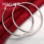 Fashion 925 stamped <b>silver</b> plated Round Fish Mating Big Hoop <b>Earring</b> Charm Large Women Circle Hoop <b>Earring</b> Jewelry aros de plata