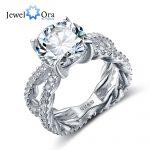 Wedding <b>Ring</b> 12mm 6.5 CT Hearts And Arrows Cubic Zirconia 925 <b>Sterling</b> <b>Silver</b> <b>Rings</b> For Women (JewelOra RI102328)