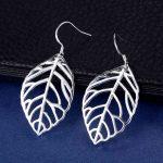 ES-AE423 Wholesale <b>sterling</b> <b>silver</b> <b>Earrings</b> <b>silver</b> 925 jewelry fashion jewelry , big leaf /azqajqxa aqxajiea