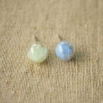 a Pair Luminous Sand Glow In The Dark Glass 925 <b>Sterling</b> <b>Silver</b> Stud <b>Earrings</b> For Women Jewelry Boho Bohemian Crystal Charms