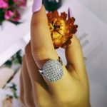 Original ARRIVAL 925 <b>Sterling</b> <b>Silver</b> <b>Rings</b> Two Gifts 88 CZ Diamonds Wedding Engagement for Women brand wholesale jewelry R103