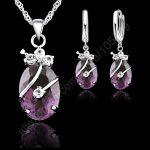 JEXXI Fashion Bridal Jewelry Sets 925 <b>Sterling</b> <b>Silver</b> Wedding Jewelry Sets For Brides Cubic Zircon Crystal Sets Accessory