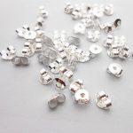 Wholesale 100PCS Lot Pure 925 <b>Sterling</b> <b>Silver</b> Jewelry Findings DIY Stud <b>Earrings</b> Ear Pin Back Stoppers Cheaper Settings