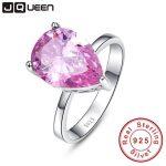 Fashionable Genuine <b>Sterling</b> <b>Silver</b> 925 <b>Ring</b> Mystic Pink Topaz 8.55carats cz Promise Wedding <b>Rings</b> for Womens