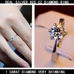 REAL PURE <b>SILVER</b> 925 <b>STERLING</b> <b>SILVER</b> SHINE BRIGHT CUBIC ZIRCONIA <b>RINGS</b> FOR WOMAN, WHITE GOLD COLOR FOR ENGAGEMENT WEDDING USE