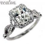 Vecalon fashion <b>ring</b> wedding band <b>ring</b> for women 4ct 5A Zircon cz <b>ring</b> 925 <b>Sterling</b> <b>Silver</b> Female Engagement Finger <b>ring</b>