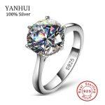 Luxury 2 Carat NSCD Synthetic Simulated Diamant <b>Ring</b> for Women 925 <b>Sterling</b> <b>Silver</b> Engagement <b>Rings</b> Sona Diamant Wedding <b>Ring</b>