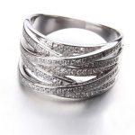 X <b>Ring</b> & Knot <b>Ring</b> Top Quality 925 <b>Sterling</b> <b>Silver</b> Jewelry Wedding <b>Ring</b> 100% 925 <b>STERLING</b> <b>SILVER</b> <b>RING</b> Wedding Gift Free Shipping