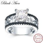 [BLACK AWN] Real 925 <b>Sterling</b> <b>Silver</b> Female Engagement <b>Ring</b> Trendy Wedding <b>Rings</b> for Women <b>Sterling</b> <b>Silver</b> Jewelry C020