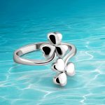 Fashionable new style solid genuine 925 <b>sterling</b> <b>silver</b> <b>rings</b> for lady clover leaf <b>ring</b>,<b>Ring</b> of women,Open simple accessories