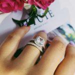 2018 new 925 <b>sterling</b> <b>silver</b> wedding engagement <b>rings</b> set for women finger band <b>rings</b> fashion bridal jewelry moonso R1090
