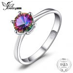 JewelryPalace Mystic Fire Rainbow Topazs <b>Ring</b> Promotion Hot Sale Round Pure 925 <b>Sterling</b> <b>Silver</b> Jewelry Nice Gift For Women