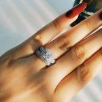 Moonso Luxury! 925 <b>Sterling</b> <b>Silver</b> <b>Ring</b> Set Wedding <b>Ring</b> Engagement Fashion <b>Ring</b> for bridal women moonso jewelry LR3400S
