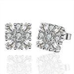 lureme 925 <b>Sterling</b> <b>Silver</b> <b>Earrings</b> Jewelry Fashion Snowflake <b>Earrings</b> AAA+ Zircon Stud <b>Earrings</b> for Women Wedding Earing
