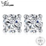 JewelryPalace Round 1ct Pure 925 <b>Sterling</b> <b>Silver</b> Stud <b>Earrings</b> For Women Gift Fashion Jewelry For Women