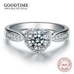 <b>Silver</b> Certificate! <b>Sterling</b> <b>Silver</b> Jewelry 925 Solid <b>Silver</b> Wedding <b>Ring</b> Heart Love Promise <b>Rings</b> For Women Zirconia <b>Ring</b> R05