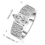 Romantic Elegant Austrian Zircon 925 <b>Sterling</b> <b>Silver</b> <b>Rings</b> Set Fine Women Birthday Jewelry Fashion Jewelry Jz100