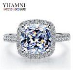 95% OFF!!! Real 100% 925 <b>Sterling</b> <b>Silver</b> <b>Rings</b> Wholesale Inlay 3 Carat SONA Simulation CZ Wedding <b>Rings</b> For Women GR001