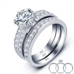 2 Carat Round Cut Created Solid 925 <b>Sterling</b> <b>Silver</b> 3-Pcs Wedding Engagement <b>Ring</b> Set Jewelry Wholesale YR0010