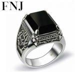 Black Stone <b>Ring</b> 925 <b>Sterling</b> <b>Silver</b> Marcasite Mens Punk Pure S925 Thai <b>Silver</b> <b>Rings</b> for men Jewelry