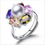2017 Fashion Pearl <b>Ring</b> Jewelry Of <b>Silver</b> Flower <b>Ring</b> Freshwater Pearl Wedding <b>Rings</b> 925 <b>Sterling</b> <b>Silver</b> <b>Rings</b> For Women