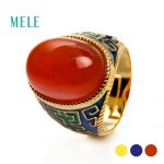 Natural red agate, prehnite <b>silver</b> <b>ring</b> , oval 13mm*18mm, special and popular <b>ring</b>,for grandmother
