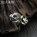 Fyla Mode New Elegant New <b>Sterling</b> <b>Silver</b> S925 <b>Earrings</b> Women Pretty Rose Flower Stud <b>Earrings</b> 11*9.4mm 1.70G 1PAIR WTS001