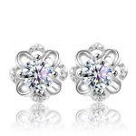 Female Jewelry Korea Style Solid 925 <b>Sterling</b> <b>Silver</b> Stud <b>Earrings</b> for Party Shiny Cubic Zirconia <b>Earrings</b> Cute Gift for Girls
