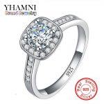 Classic Solid <b>Silver</b> Bride Wedding <b>Rings</b> for Women Inlay 1 Carat CZ Diamant Engagement <b>Ring</b> 925 <b>Sterling</b> <b>Silver</b> Jewelry AR035