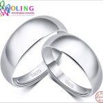 2017 new 2PCS/lot Genuine 925 <b>sterling</b> <b>silver</b> <b>rings</b> for women size S925 Couples <b>ring</b> Luxury Jewelry Romantic wedding anel