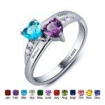 Custom <b>Rings</b> Engagement <b>Ring</b> Styles Customized & Personalized Birthstone <b>Rings</b> Promise Heart <b>Rings</b> 925 <b>Sterling</b> <b>Silver</b> Jewelry