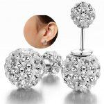 <b>Sterling</b>–<b>silver</b>-jewelry pendientes mujer <b>earrings</b> 925 brincos plata earing stud orecchini oorbellen 22 women jewelry round tyui