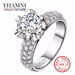 Real Solid 925 <b>Sterling</b> <b>Silver</b> Wedding <b>Rings</b> For Women Romantic Flower Shaped Inlay 3 Carat CZ Diamant Engagement <b>Ring</b> Wholesale