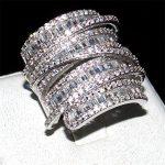 choucong jewelry Luxury Pave set full Square T 5a Zircon stone <b>ring</b> Women 925 <b>Sterling</b> <b>silver</b> cz Cocktail Band <b>Rings</b> size 5-10