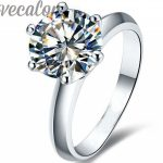 Vecalon 2016 fashion New wedding <b>ring</b> for women 2ct AAAAA Zircon Cz 925 <b>Sterling</b> <b>Silver</b> Female Engagement Band Finger <b>ring</b>