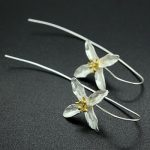 Fashion Plata 925 <b>Sterling</b> <b>Silver</b> Drop <b>Earrings</b> Four Leaf Clover Flower <b>Earrings</b> Women Jewelry