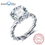 12mm Round Cubic Zirconia 925 <b>Sterling</b> <b>Silver</b> Wedding Jewelry <b>Rings</b> For Women Wedding Gift Ideas(JewelOra RI102325)