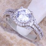 Fascinating White Cubic Zirconia CZ 925 <b>Sterling</b> <b>Silver</b> <b>Ring</b> For Women Size 5 / 6 / 7 / 8 / 9 / 10 / 11 / 12 S0445