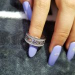 rose gold <b>silver</b> color 925 <b>Sterling</b> <b>Silver</b> wedding band eternity <b>rings</b> for women men male engagement bridal finger jewelry R879