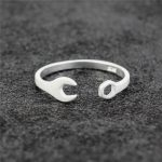 925 <b>Sterling</b> <b>Silver</b> Personality Wrench Open <b>Rings</b> For Women Men Original Handmade Fashion Prevent Allerg <b>Sterling</b>–<b>silver</b>-jewelry
