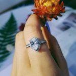 Real 925 <b>Sterling</b> <b>Silver</b> pink pear cut zircon the engagement <b>Rings</b> for Women Wedding anel aneis Fashion party gifts Jewelry R603