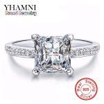 Wholesale 100% 925 <b>Sterling</b> <b>Silver</b> <b>Rings</b> For Women Square SONA Zirconia CZ Engagement <b>Ring</b> <b>Silver</b> Jewelry For Women AR050