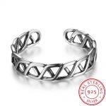 Women Real 925 <b>Sterling</b> <b>Silver</b> Open <b>Ring</b> Adjustable Hollow Shape Vintage Style <b>Silver</b> Jewelry <b>Rings</b> For Women 2017 New(RI102690)