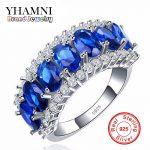 2017 New Fashion 925 <b>Silver</b> <b>Sterling</b> <b>Ring</b> Jewelry Blue CZ Zircon 10KT Vintage Party Engagement Wedding <b>Rings</b> For Women AR009