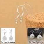 JEXXI Free Shipping 200PCS Wholesale Jewelry Making Beads 925 <b>Sterling</b> <b>Silver</b> Accessory Findings Joint <b>Earrings</b> Hook Earwire