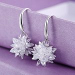 Fashion 925 <b>sterling</b> <b>silver</b> AAA Crystal drop <b>Earring</b> Ice Snowflake Design Flash High Quality <b>Earrings</b> For Women <b>silver</b> Jewelry