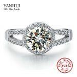 Lose Money Promotion!!! 100% Solid 925 <b>Sterling</b> <b>Silver</b> <b>Ring</b> Inlay 2 Carat CZ Diamant Engagement Wedding <b>Rings</b> For Women JZR047